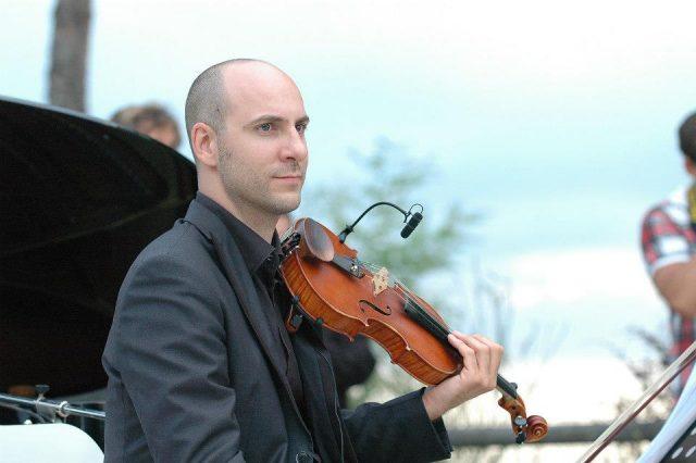 Il maestro Marco Santini, compositore dell'inno