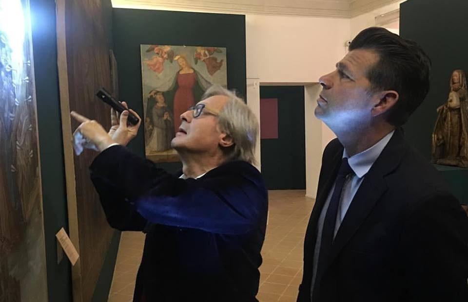 Vittorio Sgarbi e il sindaco di Senigallia, Maurizio Mangialardi