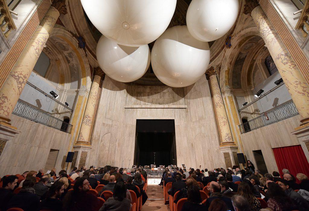 L'interno del teatro Moriconi di Jesi