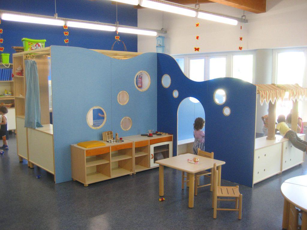 Lo spazio giochi dell'asilo nido