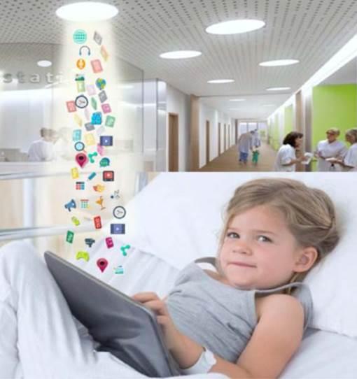 Lampada multimediale per bimbi ospedalizzati