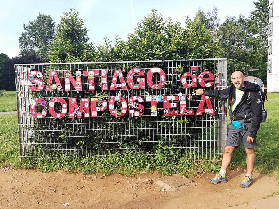 Cammino concluso, Andrea a Santiago de Compostela