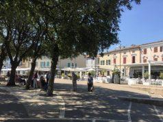 La piazza centrale di Sirolo