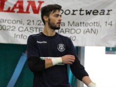 Diego Vittori, portiere del Cus Ancona C5