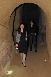 L'assessore al Turismo Michela Glorio nelle grotte