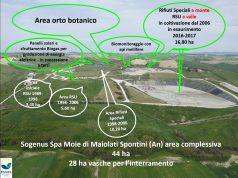 La mappa del sito della discarica. (sito internet Sogenus)