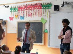 Il saluto del sindaco di Corinaldo Principi e del dirigente Savore agli alunni per l'inizio di un nuovo anno scolastico