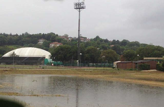 Allagamenti in zona Saline a Senigallia, dietro la piscina (foto d'archivio)