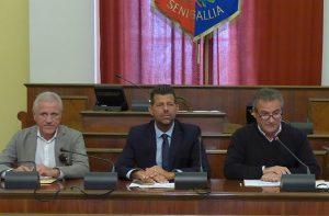 Da sinistra: Maurizio Urbinati, Maurizio Mangialardi, Carlo Girolametti
