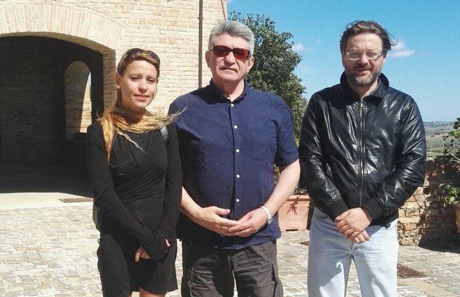 L'assessore alla cultura Laura Coppa, Aleksandr Sokurov, il sindaco Andrea Bomprezzi