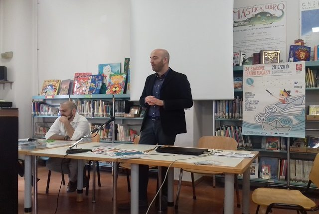 L'assessore alla Cultura Francesco Favi e Simone Guerro