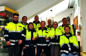 """Il nuovo direttivo 2017/20 per l'associazione di protezione civile """"Falchi della Rovere"""""""
