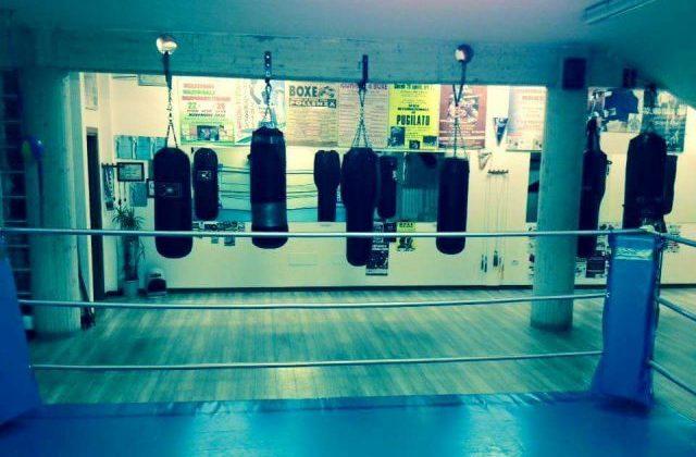 La sala di allenamento del Boxing club Castelfidardo