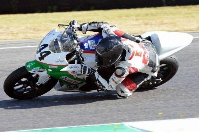 Diego Goretti in sella alla sua moto