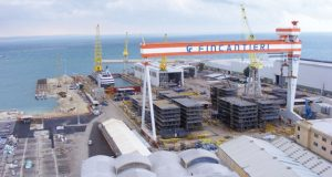 L'area Fincantieri al porto di Ancona