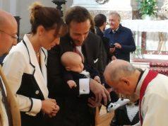 Il battesimo del piccolo Ettore nel duomo di San Settimio