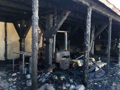 I magazzini al porto di Senigallia dopo l'incendio di lunedì 16 ottobre