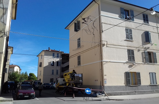 Il murale a San Giuseppe