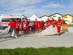 La Croce rossa di Osimo durante l'esercitazione