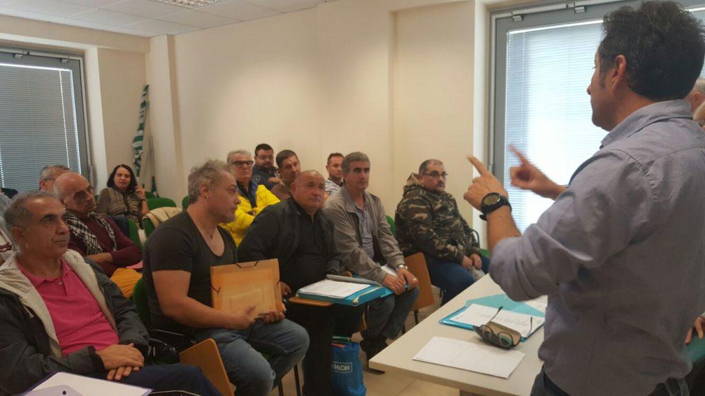 La riunione di stamattina, 11 ottobre, nella sede della Cisl di Osimo