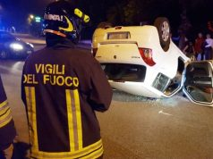 Incidente in via Ville (Foto: Vigili del Fuoco)
