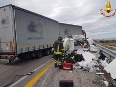 L'incidente in A14 tra Senigallia a Montemarciano