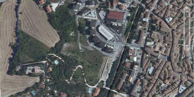 L'area interessata a Fabriano