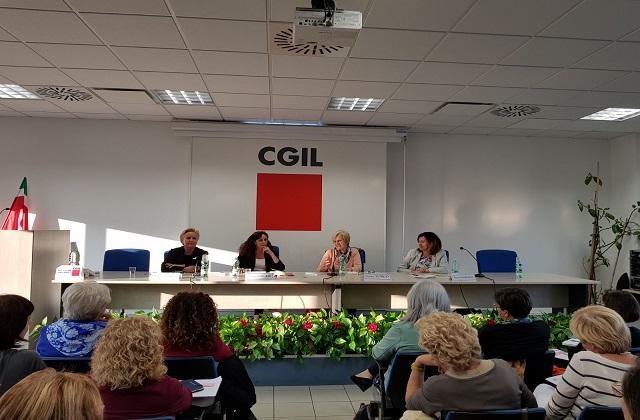 Il convegno della Cgil con Livia Turco. Da sinistra Silvana Amati, Daniela Barbaresi, Livia Turco e Meri Marziali