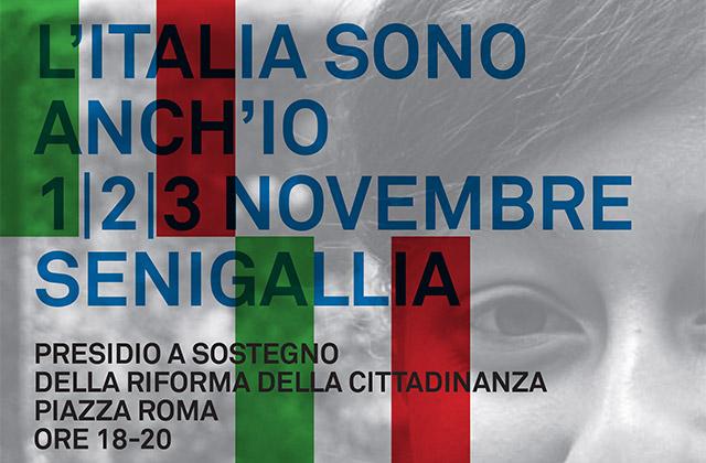 """La campagna L'Italia sono anch'io a cui ha aderito la Scuola di Pace """"Vincenzo Buccelletti"""""""