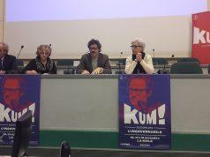 Da sin. il rettore Univpm Sauro Longhi, Paola Marchegiani (Regione Marche) e gli assessori Paolo Marasca (Cultura) ed Emma Capogrossi (Politiche Sociali)
