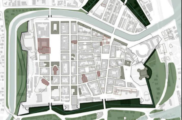 Il prospetto delle mura storiche a Senigallia