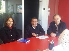 visita del dirigente scolastico dell'Ipsia di Arcevia nelle aziende della Valmisa