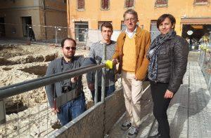 """Luca Bisbocci, Alex Zamparini, Daniele Stronati, Simona Guido, della """"Perigeo Solution"""""""