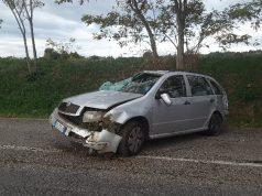 L'auto incidentata in via Sant'Antonio, tra Monsano e Jesi