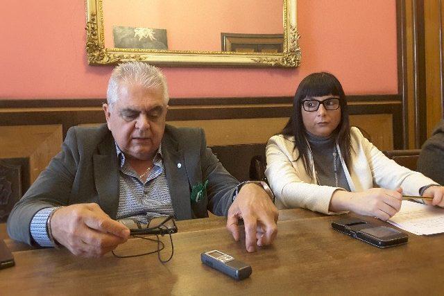Il consigliere regionale Sandro Zaffiri e Silvia Gregori coordinatrice della Lega Nord Jesi e consigliera comunale