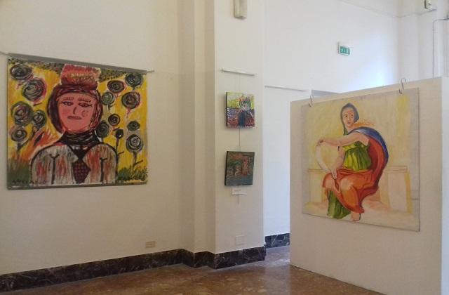 """Un dettaglio della mostra """"Zero+Uno"""" a Palazzo dei Convegni per Malati di Niente"""