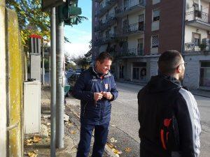 L'allenatore della Jesina, Franco Gianangeli sul luogo dell'incidente in cui è rimasto coinvolto il fratello