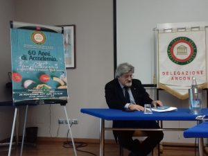 L'avvocato Pietro Aresta, delegato dell'Accademia italiana della cucina delegazione ancona