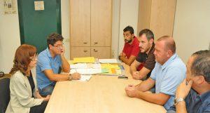 Un incontro con i sindacalisti in Manifattura