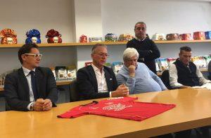 Nella foto da sx: Robert Egidi, Stefano Marconi, Giampaolo e Gabriele Giampaoli