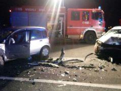 L'incidente lungo la statale a Castelfidardo