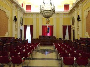 L'aula consiliare del Municipio di Senigallia