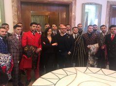 Luca Paolorossi a Tirana post sfilata