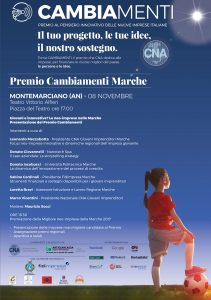La locandina del premio Cambiamenti di Cna a Montemarciano