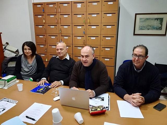 Da sx: Michela Silvestrini, Marcello Liverani, Massimo Bello, Davide Da Ros