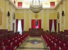 L'aula per le sedute del Consiglio comunale di Senigallia