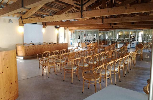 La biblioteca comunale Antonelliana di Senigallia: sala incontri