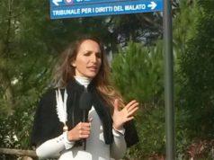 Chiara Squaglia, inviata a Senigallia per il tg satirico Striscia la Notizia