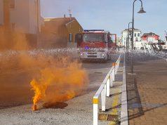 Esercitazione antincendio al porto di Senigallia