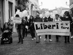 Manifestazione a Senigallia sui diritti civili e sull'assistenza alle persone disabili